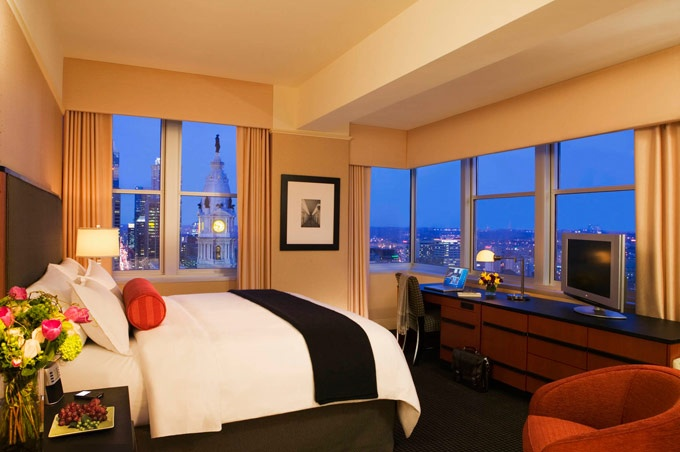 You could rest your head on the plush pillows at the Loews Philadelphia Hotel. Just pin it to win it! http://woobox.com/t8m9ny