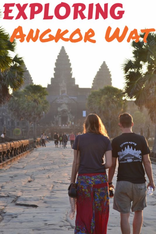 Exploring Angkor Wat at Sunrise