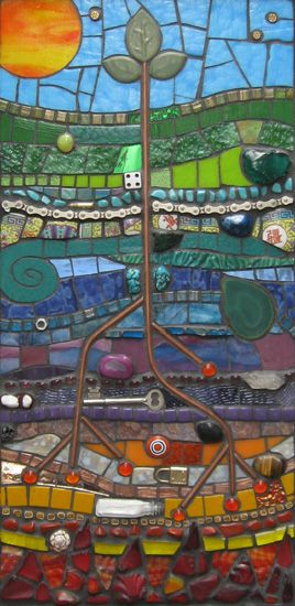 Root Study. Mosaic by Terra Firma Studios (Texas), Aly Winningham, artist