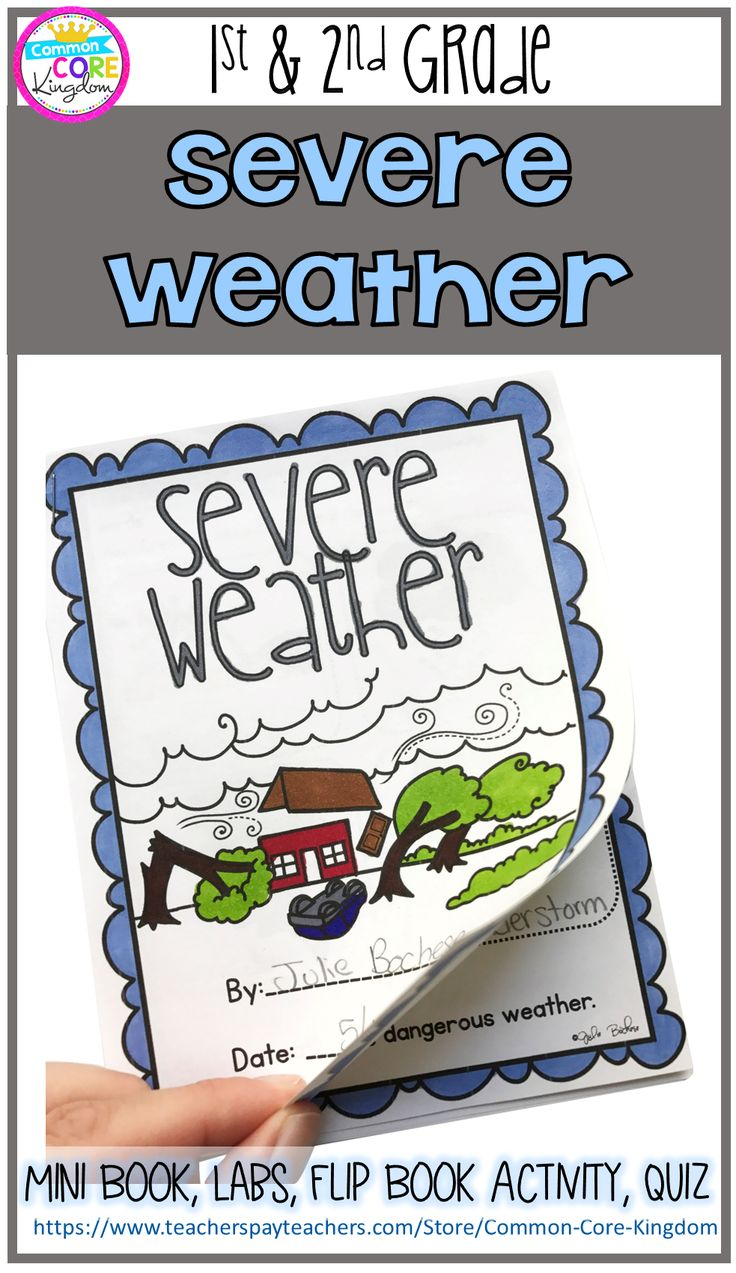 Are you looking for a fun way to teach your 1st and 2nd graders about storms and severe weather? This mini unit includes vocabulary cards, mini book, flip flap book activity, lab experiments, and quiz.  *Severe Weather included are hurricanes, tornadoes, thunder storms, and blizzards.