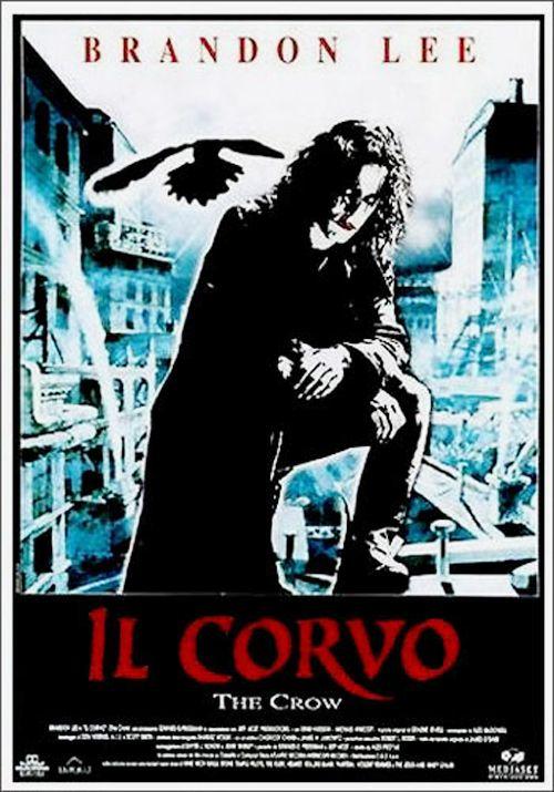 """IL CORVO - """"The Crow"""" è un film del 1994 diretto da Alex Proyas, tratto dall'omonimo fumetto di James O'Barr. Ultimo film di Brandon Lee, figlio di Bruce."""