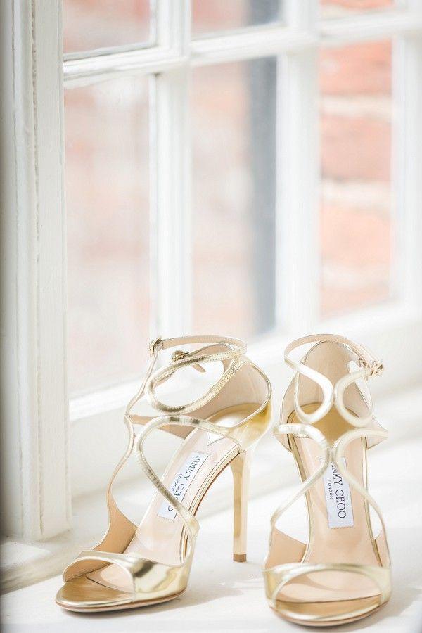 Gold Jimmy Choo Wedding Heels | Image by Love Story Studio