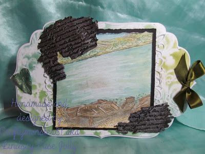 Today's card was made using a Spellbinder Grand Die for the card base, the image is Sheena Douglas stamps from Crafters Companion coloured in with PanPastels, the background was made usingPanPastelsand aPremium Art Brands Stencil. The die cut frames are from Marianne Design, the leaf embellishment was made usingMaiMeri iridescent mediumin a mold I made from a vintage broach and the script embellishments were made usingMaiMeri iridescent mediumon an Indigo Blu stamp, I then just added…