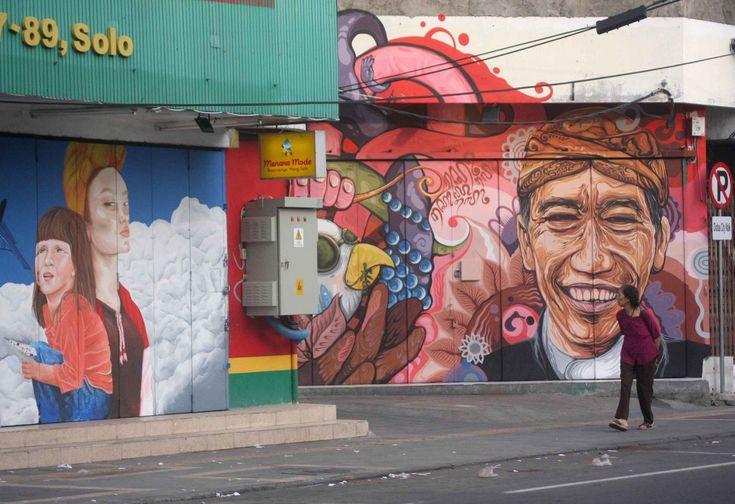 Jokowi mural at Solo - Nine Surakarta kampung ready to host tourists