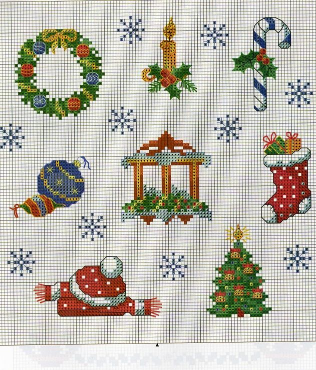 .CHRISTMAS CROSS STITCH                                                                                                                                                      Más                                                                                                                                                                                 More