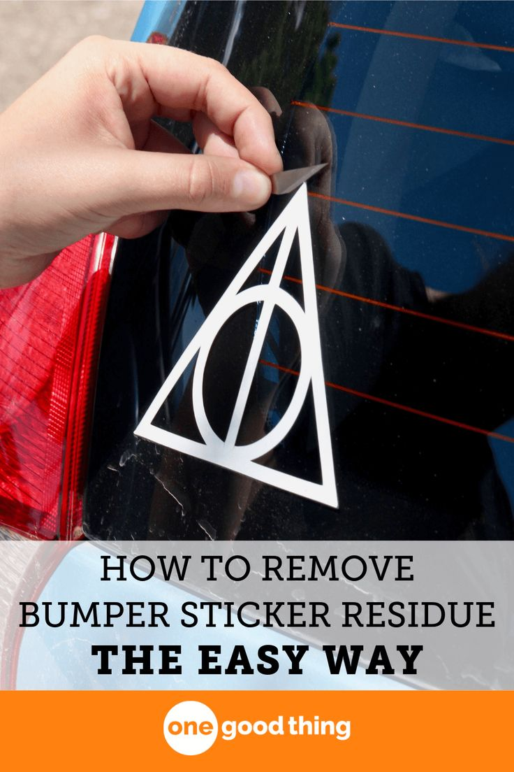 Heres how to remove any sticker the easy way cleaning