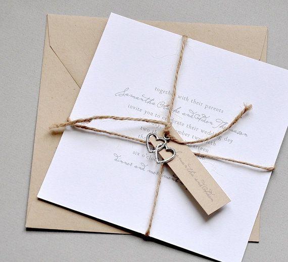 Samantha Kraft and White Wedding Invitations by avisualconcept, $75.00
