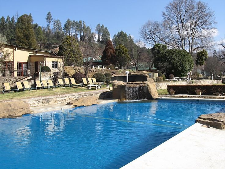 The newly renovated Bergview pool, looks inviting anytime of the year @Drakensberg Gardens Golf & Spa