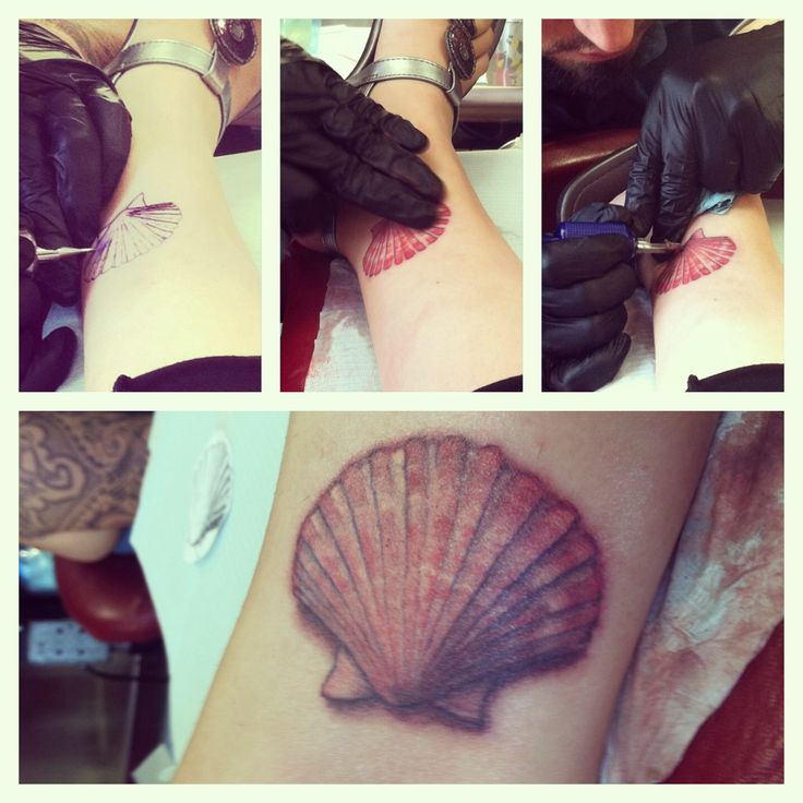 This is MY personal tattoo! Love it so much! Perfectly fits my love for the beach and its simplicity. #tattoo #seashell