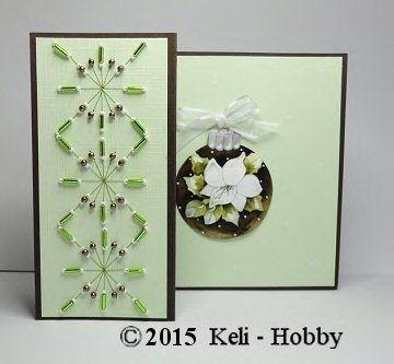 Borduren met Kralen-Het blijft mooi en een favoriet onder veel kaartenmaakster, borduren met kralen.