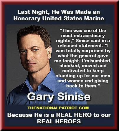 Gary Sinise...I just love this man...too bad he is not in office.