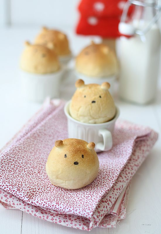 Teddy Bear Bread! We need to make this.