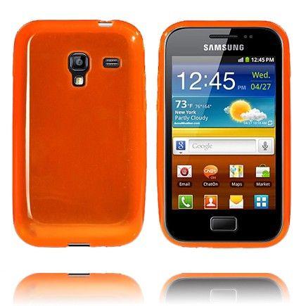 Soft Shell Transparent (Orange) Samsung Galaxy Ace Plus Cover