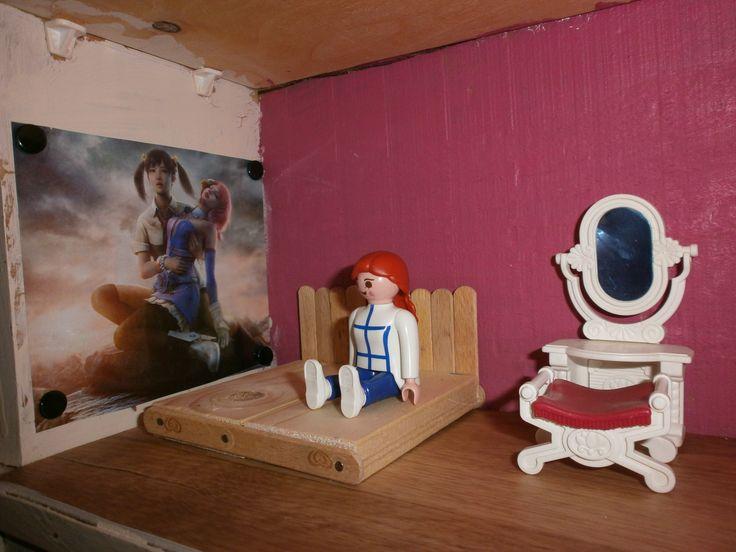 Chambre des parents playmobil lit realis en batons de - Baton de glace en bois pour creation ...