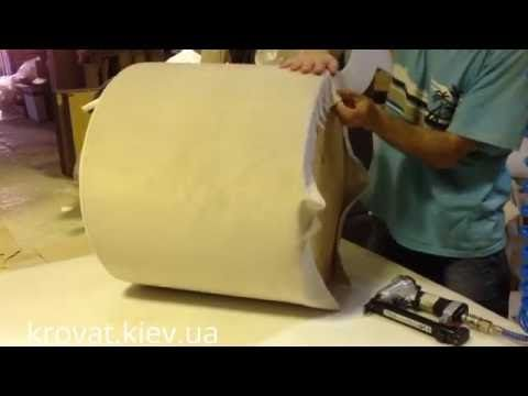Как сделать квадратный пуф с утяжками своими руками - YouTube