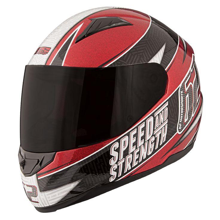 62 MOTORSPORTS™ SS1100 HELMET Helmet, Black helmet, Full