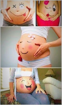 Idées de grossesse amusantes # Photos de grossesse # Grossesse # Communiquer #v…