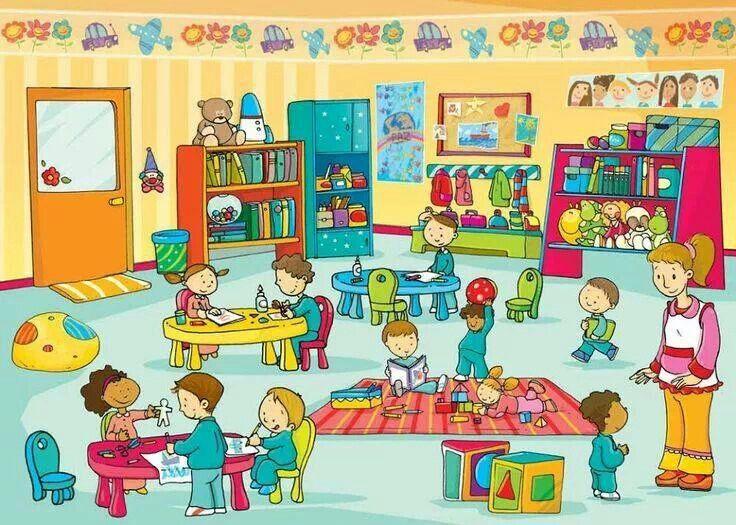 Construye frases explicando qué hacen los niños o dónde están objetos concretos. *