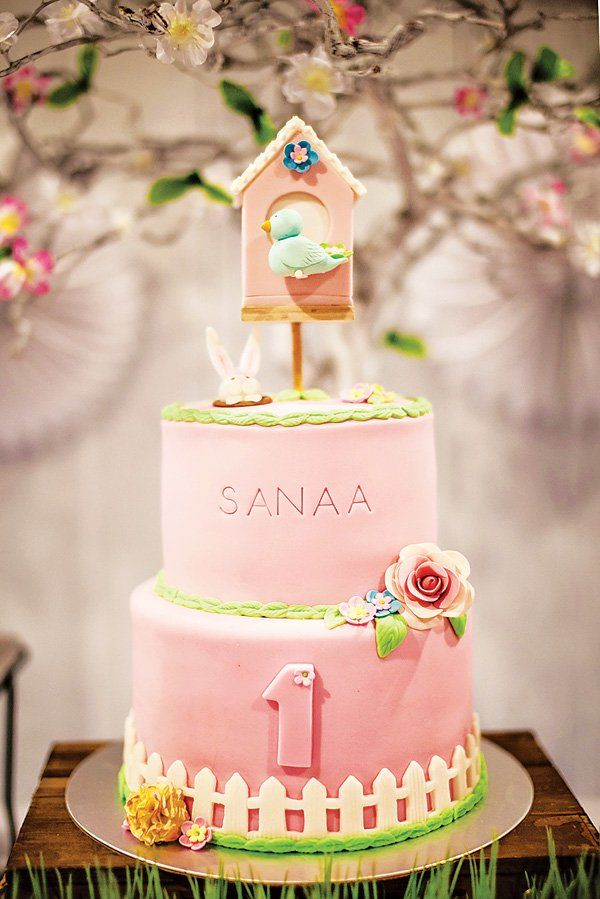 Gorgeous Bird Themed First Birthday {Pink & Green}