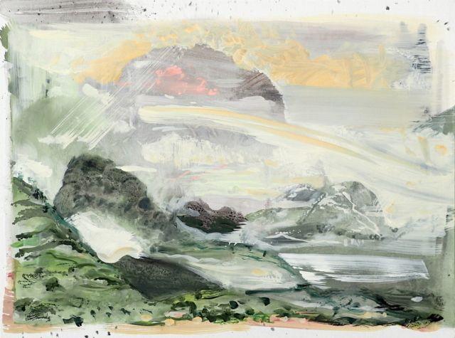 Jan Valik As if breathing timelessly / 60 x 80 cm / oil on canvas, 2017