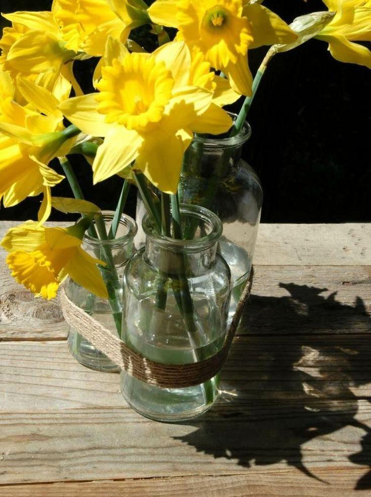 Hanfschnüre zum Dekorieren von Schalen und Vasen