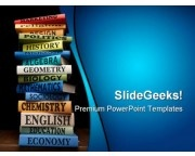 Books Of Different Subjects Education PowerPoint Templates And PowerPoint Backgrounds 0311