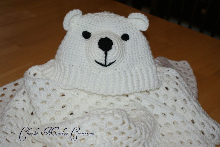 Polar bear Hood Blanket by CheekeemonkeeStore on Etsy