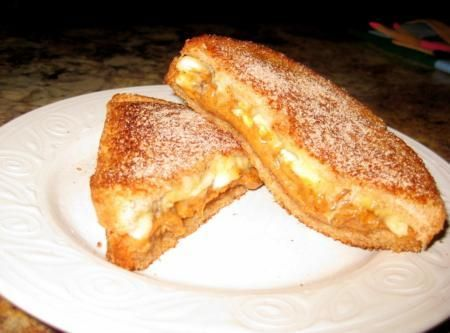 Fried Peanut Butter and Banana Sandwich Recipe