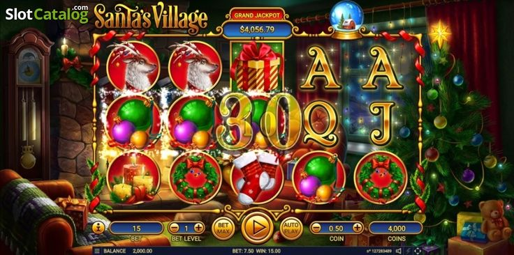 Win Screen . Santa's Village (Video Slot from Habanero)