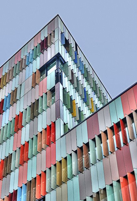 The coloured windows of the MAC 567, the new Business Park in Milan by Matthias Sauerbruch and Louisa Hutton