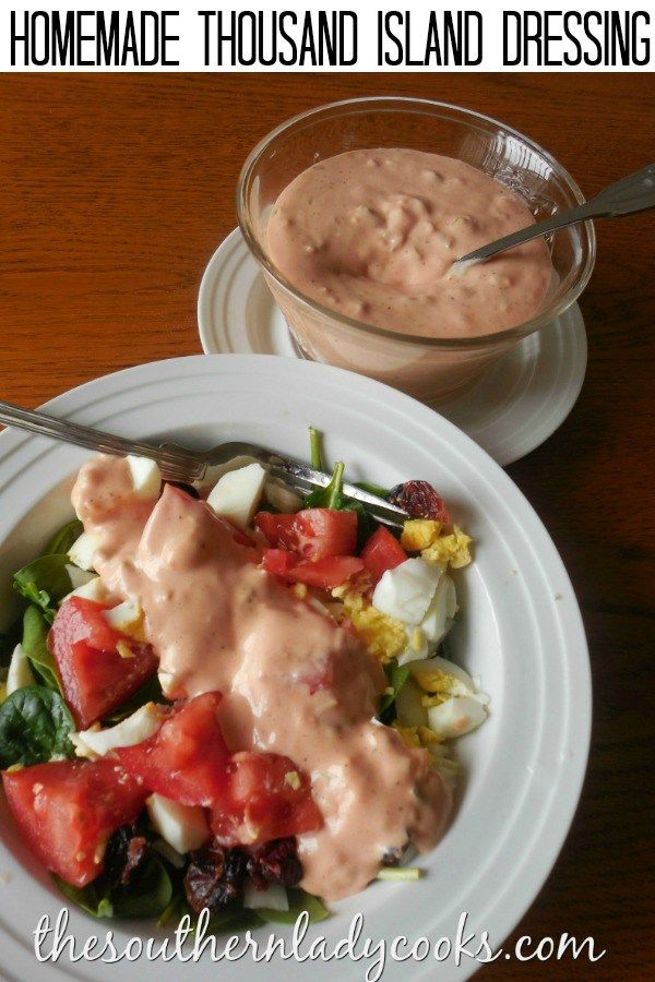 THOUSAND ISLAND DRESSING - The Southern Lady Cooks