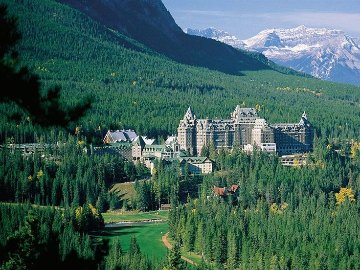This is what I want for Christmas!  A week here with no husband, dogs, or phones!  Hell, make it a month! The Fairmont Banff Springs Hotel