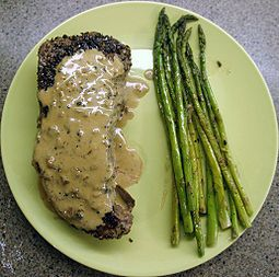 Est-ce que tu adores le steak?  The best I ever tasted was Steak au poivre. The cream sauce is unlike any other.