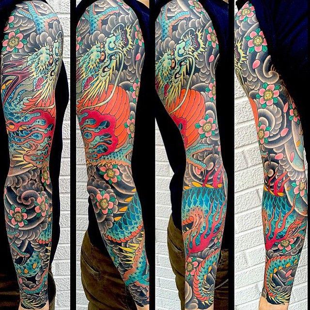 Japanese Dragon sleeve made by @mikerubendall #tattoodo by tattoodo