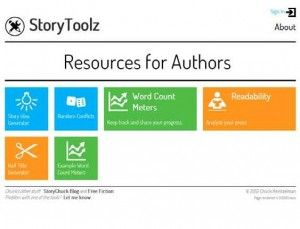 Story Toolz- GREAT free tools for writing!  Includes a story idea generator, random conflict generator, word count meters, half title generator, and cliche buster!  Great tools for ELA!