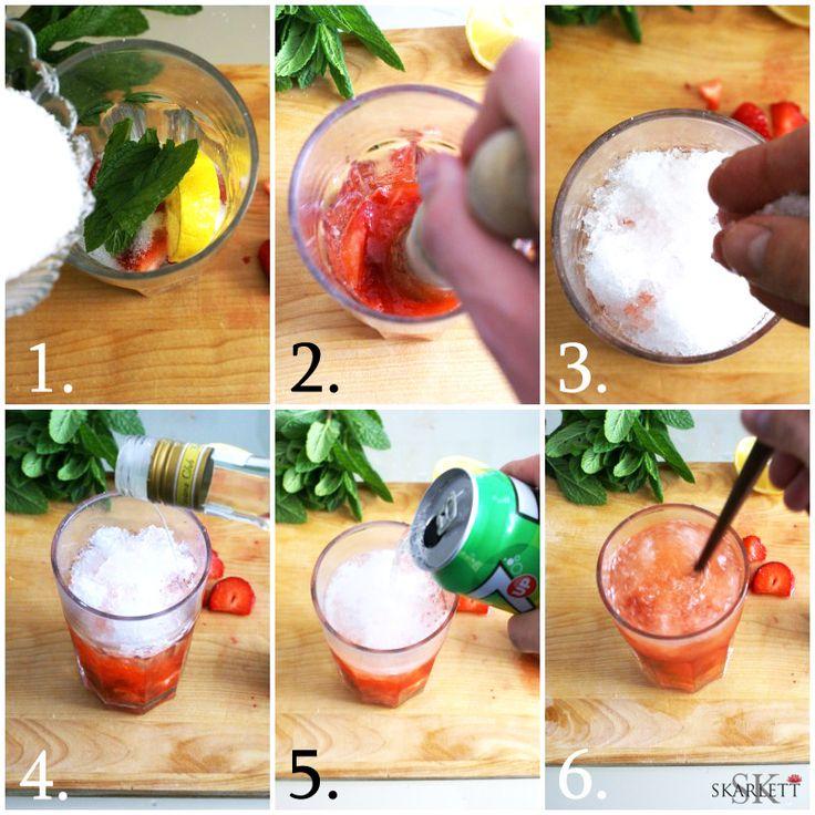 El cocktail de la felicidad / Mojito de fresa