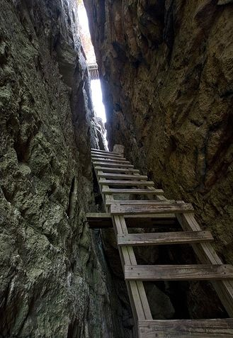 """The """"Lemon Squeeze"""" at Mohonk Mountain House, New Paltz NY.  I actually climbed this.  The top has an  amazing view."""