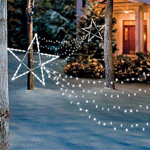 Led Shooting Star Light Set Christmas Holiday Outdoor Yard Art