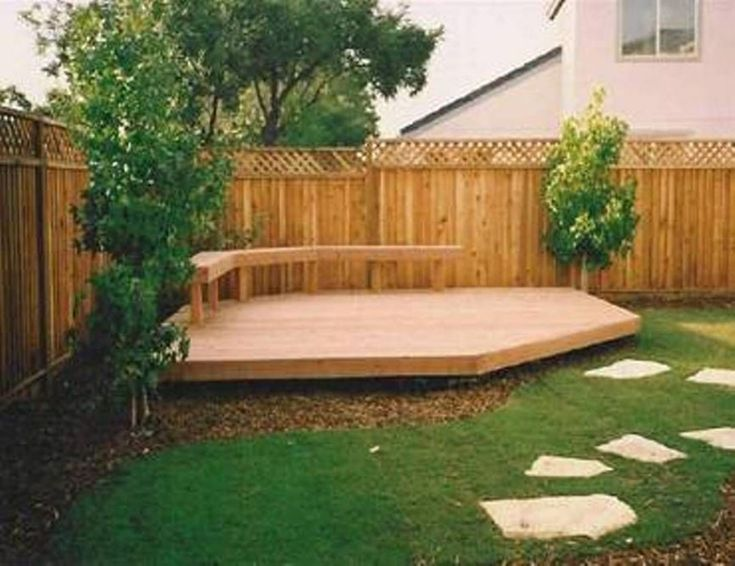 20+ Gorgeous Small Wooden Deck Ideas for Small Backyards – GooDSGN