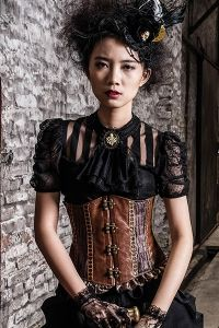 17 best images about steampunk kleidung damen on pinterest coats red black and vintage. Black Bedroom Furniture Sets. Home Design Ideas