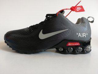 b219156298697a Mens Nike Air Shox KPU Black Wolf Grey Footwear NIKE-NSZ002746 in ...