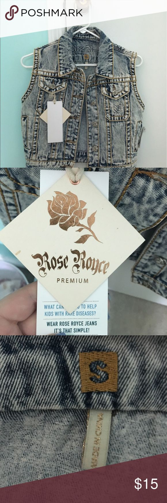 Rose Royce premium jean jacket This is a real rose Royce Jean jacket with rose detailing on the pockets and metal rose buttons rose royce  Other