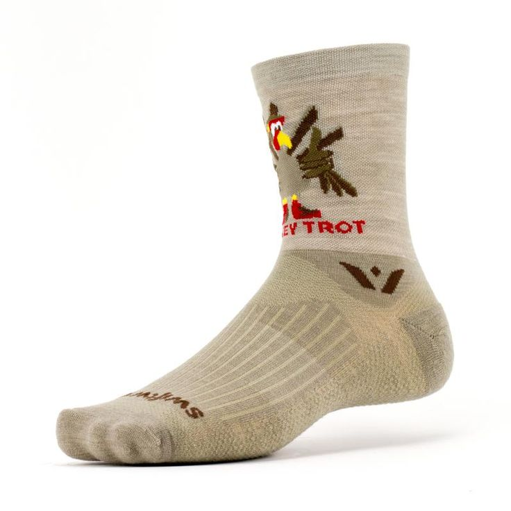 HOLIDAY CLASSIC. CREATED FOR CHANGE.Fun run enthusiasts and elite athletes can all enjoy the Swiftwick VISION™ FIVE Turkey Trot for Thanksgiving Races. Made with Merino Wool, this sock is the perfect way to dress up for your local Turkey Trot without sacrificing the performance benefits you expect from Swiftwick socks. Limited Release - available while supplies last. A percentage of all VISION™ sales are given to charitable initiatives.