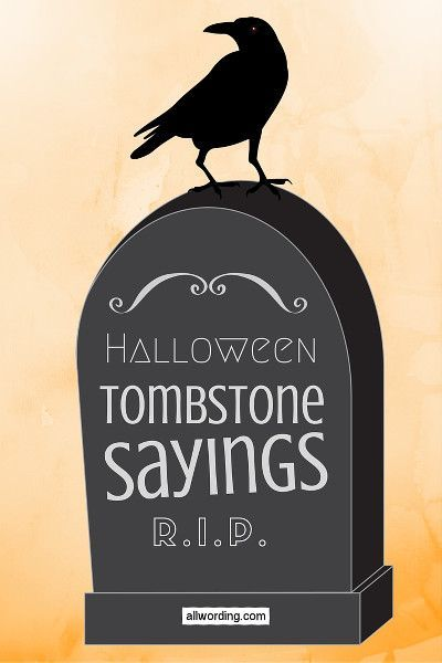 Tombstone sayings for your Halloween yard haunt