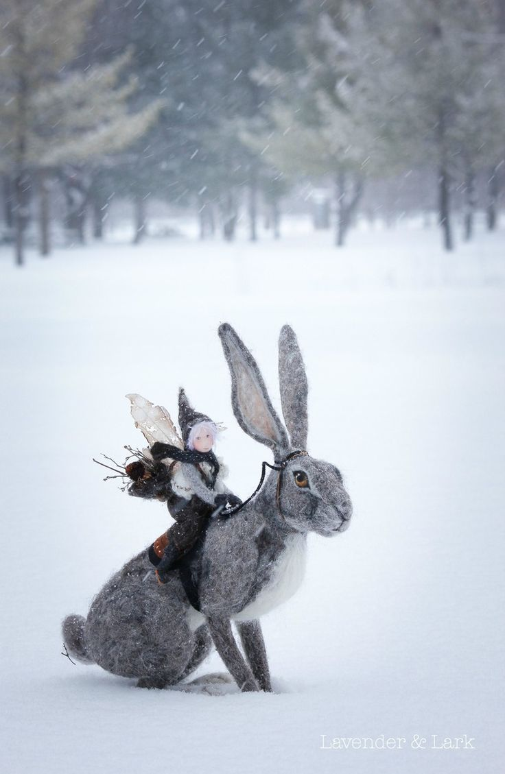 Winter's Children — Fionn & the Hare on Lavender and Lark