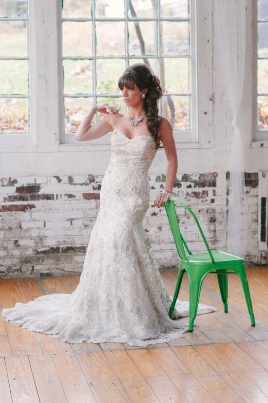 Illuminated Industrial Wedding Ideas Industrial Gowns