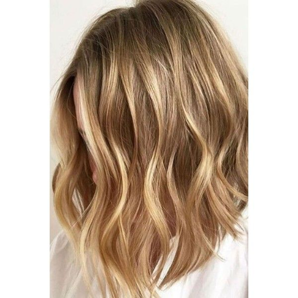 36 Blonde Balayage with Caramel, Honey, Copper Highlights ❤ liked on Polyvore featuring beauty products, haircare, hair styling tools and curly hair care