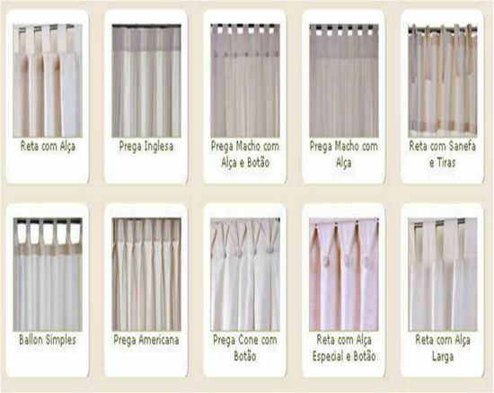 Tipos de cortinas modernas e aconchegantes d and cleanses - Tipos de cintas para cortinas ...