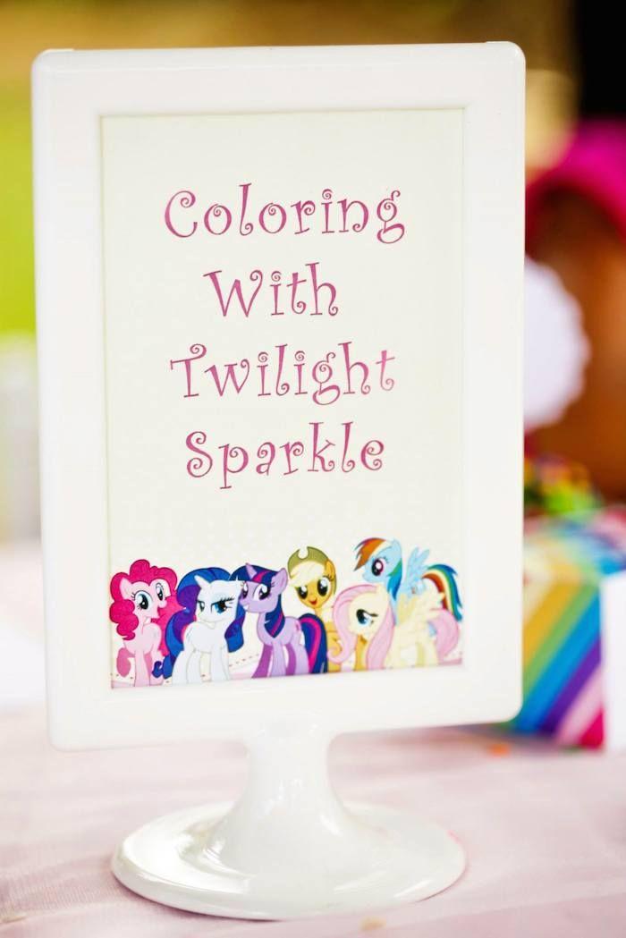 My Little Pony Rainbow Birthday Party {Ideas, Decor, Styling