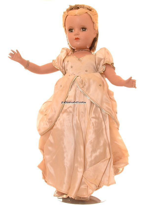 """Mouse over image to zoom  SPECTACULAR RARE 1950 MADAME ALEXANDER HARD-PLASTIC 18"""" CINDERELLA DOLL"""